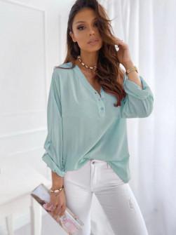 Γυναικείο χαλαρό πουκάμισο 5019 μέντα