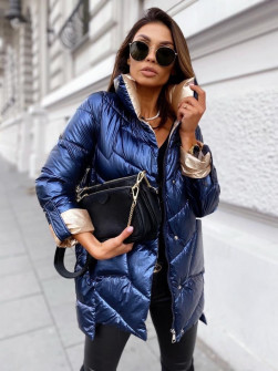 Γυναικείο εντυπωσιακό μπουφάν MF04 μπλε