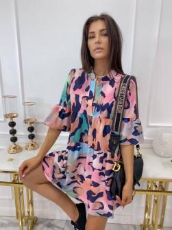 Γυναικείο φόρεμα με εντυπωσιακό ντεσέν 581806