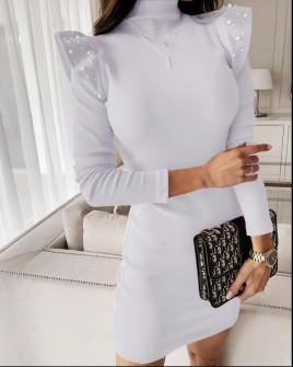 Φόρεμα με πέρλες 5443 άσπρο