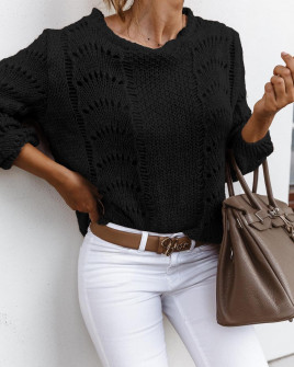 Γυναικείο εντυπωσιακό πουλόβερ 3324 μαύρο