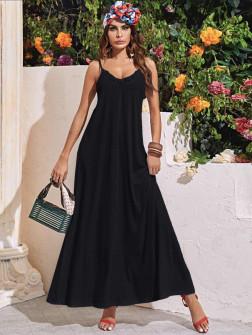 Γυναικείο μακρύ φόρεμα 5156 μαύρο