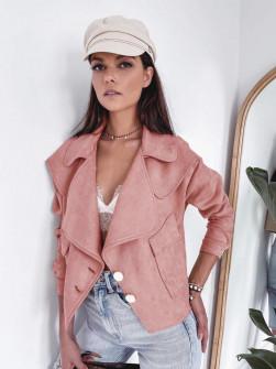 Γυναικείο σουέτ μπουφάν 5277 ροζ