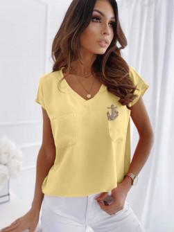 Γυναικεία μπλούζα με καρφίτσα 1983 κίτρινη