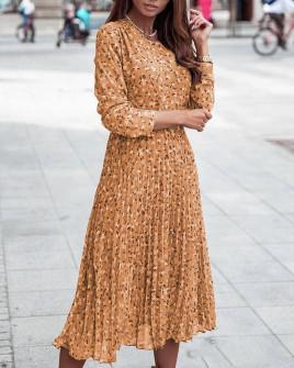 Γυναικείο μίντι φόρεμα σολέιγ 29833 καμηλό