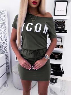 Γυναικείο αθλητικό φόρεμα 3939 σκούρο πράσινο