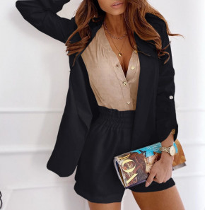Γυναικείο σετ σακάκι και παντελόνι 5045 μαύρο