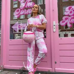 Γυναικείο εντυπωσιακό σετ 2198 ροζ