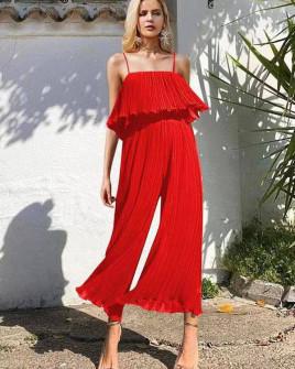 Γυναικεία ολόσωμη φόρμα σολέιγ 27918 κόκκινο