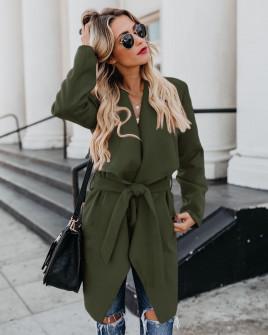 Γυναικείο παλτό 1220 σκούρο πράσινο