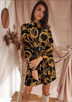 Γυναικείο φόρεμα με ζώνη 533003