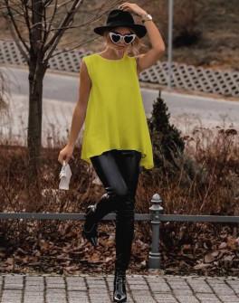 Γυναικείο μπλουζοφόρεμα 3286 κίτρινο