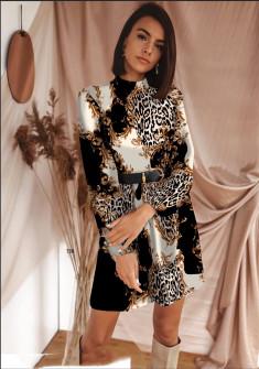 Γυναικείο φόρεμα με ζώνη 533004