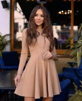 Γυναικείο κλος φόρεμα 5445 μπεζ