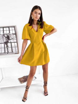 Γυναικείο κλος φόρεμα  7127 κίτρινο