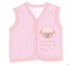 Βρεφικό γιλέκο προβατάκι 50500884 ροζ