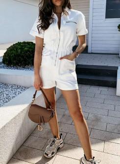 Γυναικεία ολόσωμη φόρμα 93111 άσπρη