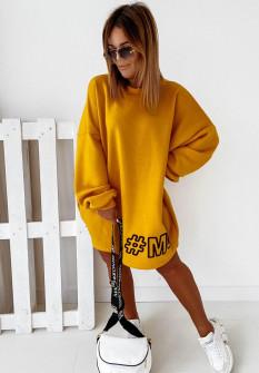 Γυναικείο αθλητικό μπλουζοφόρεμα 13789 κίτρινο