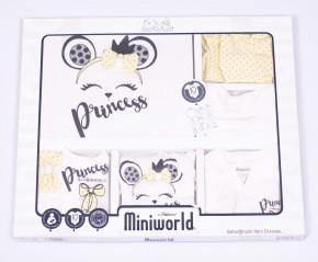Βρεφικό σετ για νεογέννητο 10 τμχ. 50514461 κίτρινο