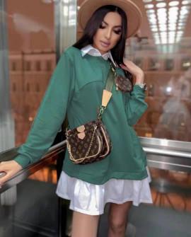 Γυναικείο μπλουζοφόρεμα 5462 πράσινο