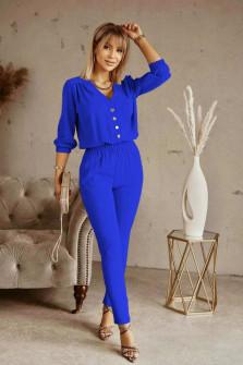 Σετ σετ πουκάμισο και παντελόνι 21244 μπλε