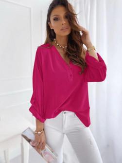 Γυναικείο χαλαρό πουκάμισο 5019 φούξια