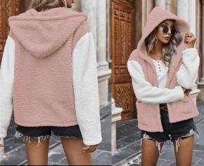 Γούνινο μπουφάν 2580 ροζ