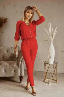 Σετ σετ πουκάμισο και παντελόνι 21244  κόκκινο