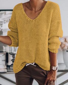 Γυναικείο πουλόβερ 888 κίτρινο