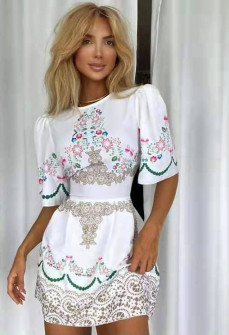 Γυναικείο φόρεμα με print 5809