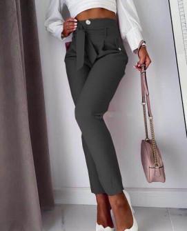 Γυναικείο ψηλόμεσο παντελόνι 933 μαύρο
