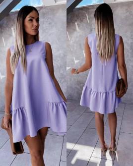 Γυναικείο χαλαρό φόρεμα 5684 λιλά