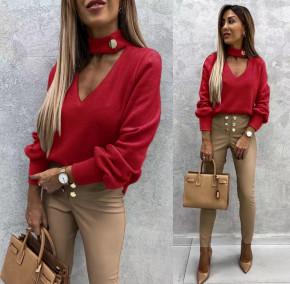 Γυναικεία εντυπωσιακή μπλούζα 5459 κόκκινο