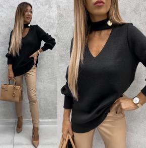 Γυναικεία εντυπωσιακή μπλούζα 5459 μαύρη