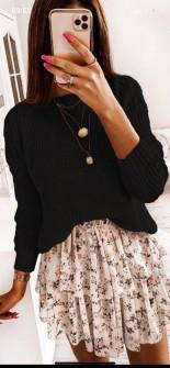 Γυναικείο πουλόβερ 0028 μαύρο