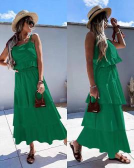 Γυναικείο σετ φούστα και τοπάκι 5761 πράσινο