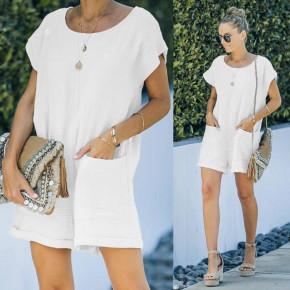 Γυναικεία χαλαρή ολόσωμη φόρμα 21262 άσπρη