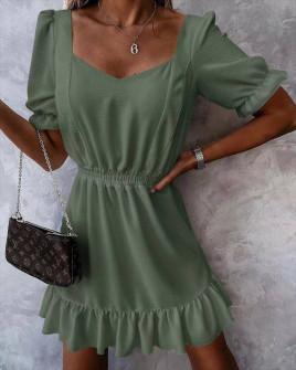 Γυναικείο χαλαρό φόρεμα 5712 χακί