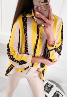 Γυναικείο πουκάμισο 5041 κίτρινο