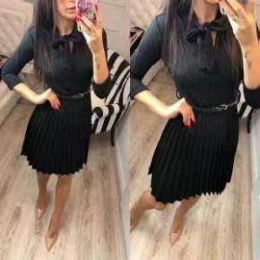 Γυναικείο φόρεμα σολέϊ 3136 μαύρο