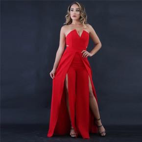 Γυναικεία ολόσωμη φόρμα 9496 κόκκινο