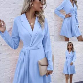 Γυναικείο εντυπωσιακό φόρεμα 8064 γαλάζιο