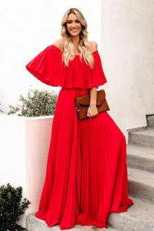 Γυναικείο φόρεμα 3560 κόκκινο
