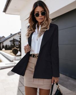 Γυναικείο σακάκι με φόδρα 5256 μαύρο