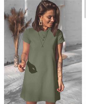 Γυναικείο μπλουζοφόρεμα 5166 σκούρο πράσινο