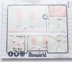 Βρεφικό σετ για νεογέννητο 10 τμχ 50514228 ανοιχτό ροζ