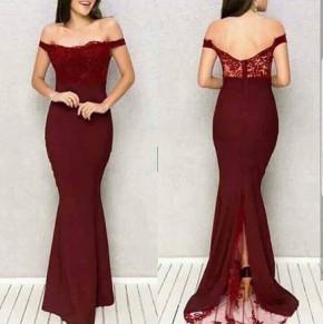 Γυναικείο φόρεμα 9698 μπορντό