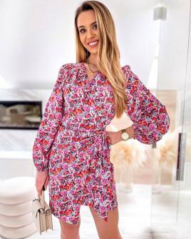 Γυναικείο φόρεμα με εντυπωσιακό ντεσέν 581606
