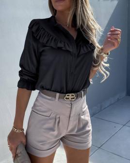 Γυναικείο εντυπωσιακό πουκάμισο 5898 μαύρο
