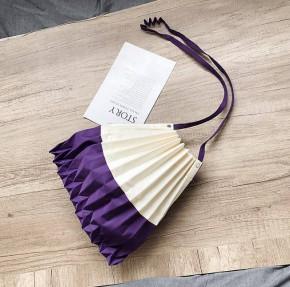 Γυναικεία τσάντα B521 μωβ/άσπρο